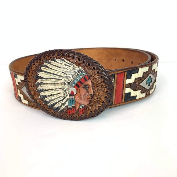 cff20387c32 Accessories - Native American Indian leather belt